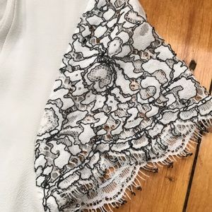 Brixon Ivy Tops - Brixon Ivy Short Sleeves with Lace Blouse V Neck